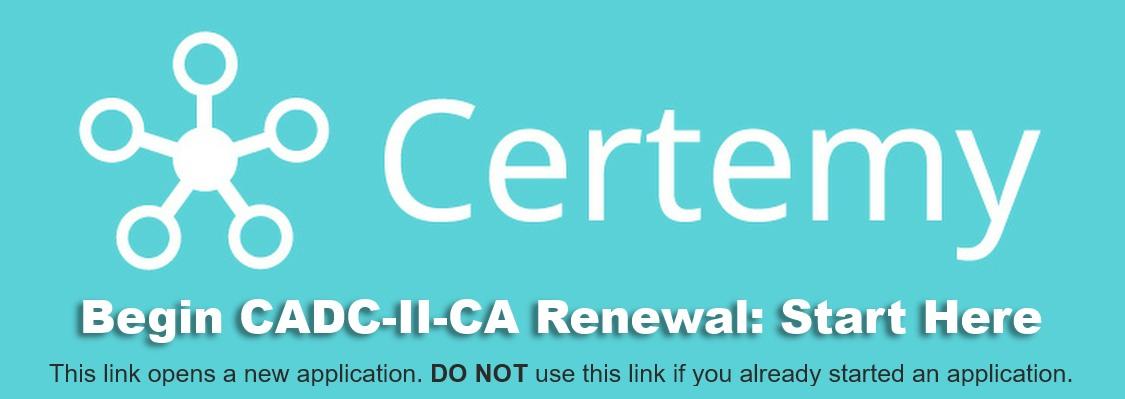 CADC-II :: CCAPP Credentialing